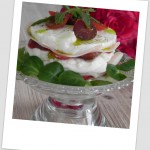 Mini ensalada caprese original (plato light)