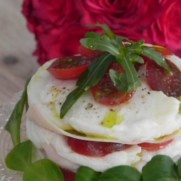 Mini ensalada caprese original (plato light)