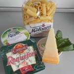 Ingredientes pasta fácil a los 3 quesos