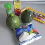 Ingredientes minipizzas de calabacín (zucchini pizzas)