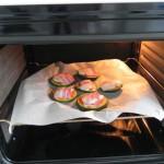 Lo metemos todo al horno a 180º hasta que el bacon esté dorado