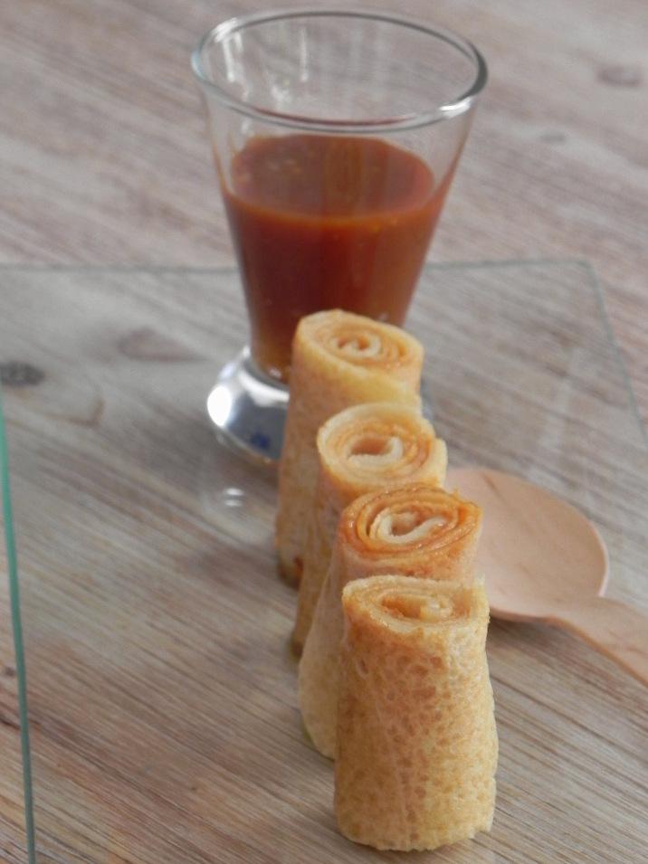 Makis de crêpe con caramelo salado