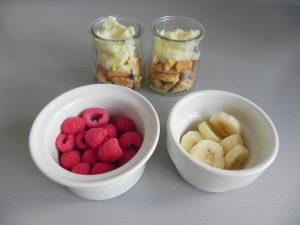 Sobre el mascarpone, la fruta