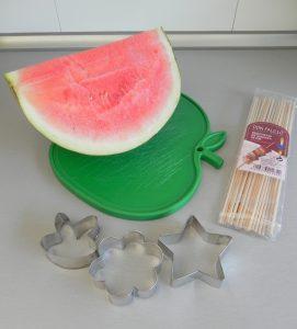 Ingredientes Piruletas de sandía
