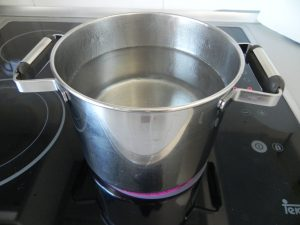 Ponemos agua a hervir (sin sal)