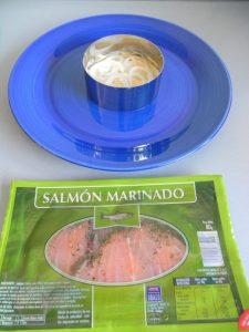 A continuación, ponemos una capa de salmón ahumado