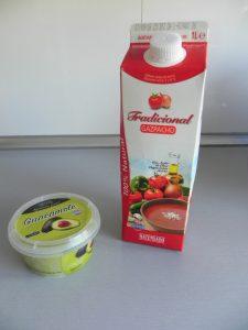Ingredientes gazpacho (fácil) de aguacate