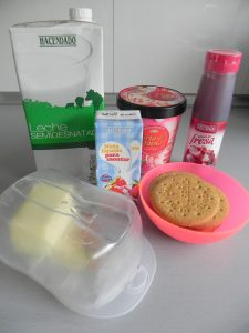 Ingredientes batido de cheesecake