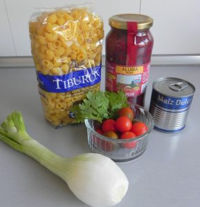 Ingredientes Ensalada de pasta mexicana