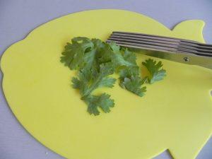 Cortamos el cilantro