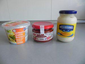Ingredientes salsa ensalada de pasta mexicana