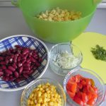 Preparamos la ensalada con todos los ingredientes