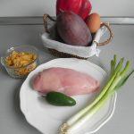 Ingredientes Hamburguesas tropicales (de pollo y mango)