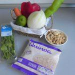Ingredientes ensalada de quinoa al estilo thai