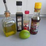 Ingredientes aliño ensalada de quinoa al estilo thai
