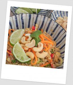 Ensalada de quinoa al estilo thai