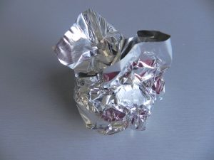 Lo envolvemos con papel de aluminio