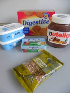 Ingredientes Nutella cheescake