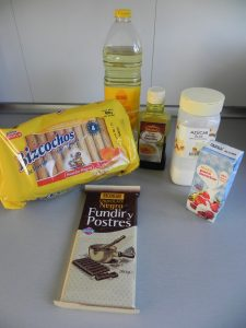 Ingredientes Eclairs de nata y chocolate (¡con truco!)