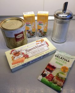 Ingredientes Panna Cotta de turrón