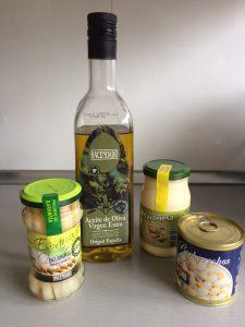 Ingredientes Crema de espárragos al aroma de berberechos