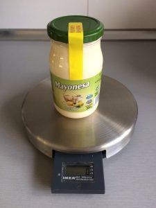 Pesamos la mayonesa