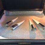 Los metemos al horno a 180º y los rotamos al menos una vez