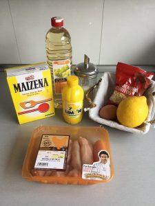 Ingredientes Pollo almendrado con salsa de limón (plato chino)