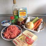 Ingredientes Sopa lasaña (Lasagna Soup)