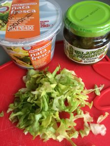 Ingredientes topping de las cestitas