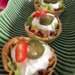 Cestitas de taco (plato tex-mex)