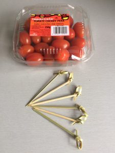 Ingredientes corazones de tomatito cherry