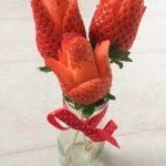 Fresas en flor