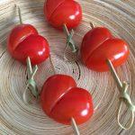 Corazones de tomatito cherry