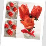 Ramo de fresas en flor y corazones de tomatitos (especial San Valentín)
