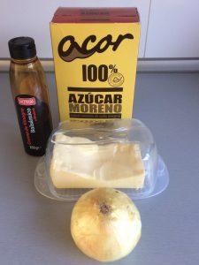 Ingredientes cebolla caramelizada