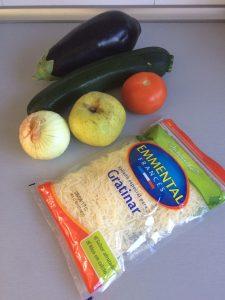 Ingredientes Tian de verduras con manzana