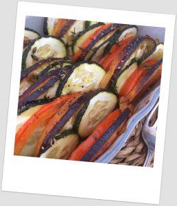 Tian de verduras con manzana