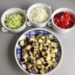Verduras caponata preparadas
