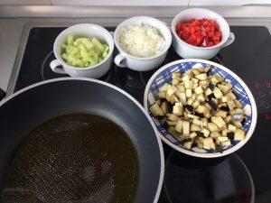 Añadimos todas las verduras a la sartén