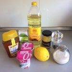 Ingredientes Aliño de yogurt