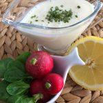 Aliño de yogurt