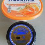 """Ingredientes patatas """"glam"""" con queso crema al aslmón y sucedáneo de caviar"""