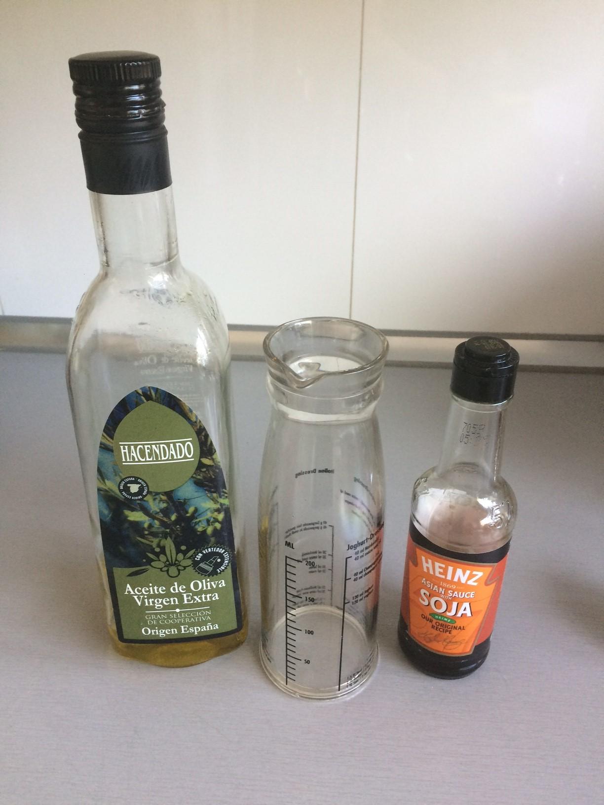 Mezclamos el aceite de oliva con la soja