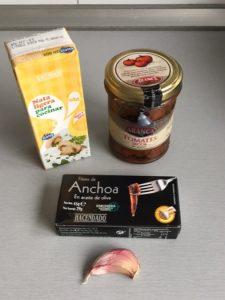 Ingredientes dip de tomate seco