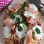 Pizza-ccia (mitad pizza, mitad focaccia)