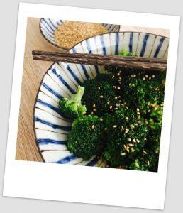 Brócoli al vapor (al estilo asiático)