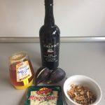 Ingredientes brevas con roquefort, nueces y miel