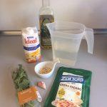 Ingredientes crema fría de pesto