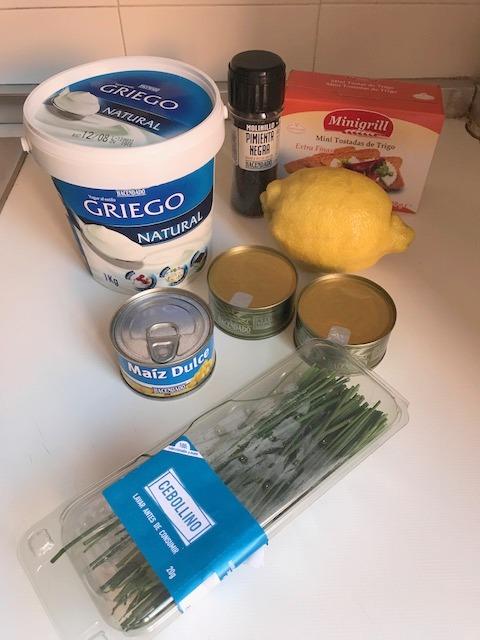 """Ingredientes Ensalada de atún """"5 Minutos"""""""